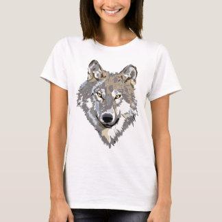 Camiseta Design principal do tatuagem da arte do lobo