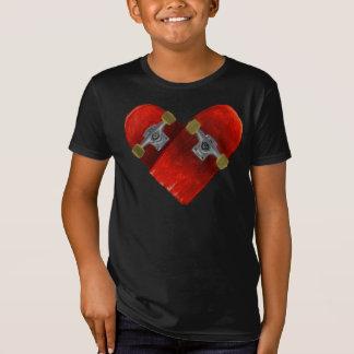 Camiseta Design quebrado amor do skateboarding do conselho