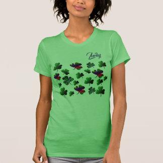 Camiseta Design /rainbow do conjunto do trevo do St.