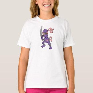 Camiseta Design roxo customizável de Ninja
