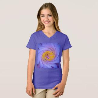Camiseta Design roxo do Twirl do lírio de água