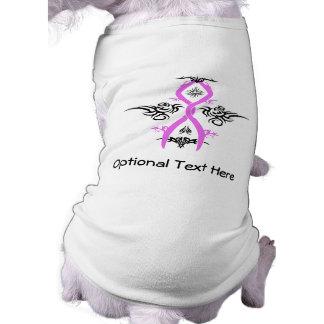 Camiseta Design tribal da consciência do cancro da mama
