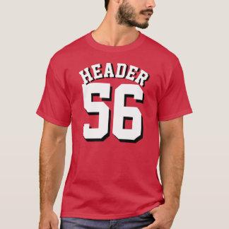 Camiseta Design vermelho & branco cardinal do jérsei dos