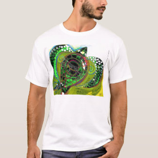 Camiseta Design Vinnyfish do T da arte abstracta da
