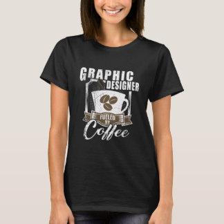 Camiseta Designer gráfico abastecido pelo café