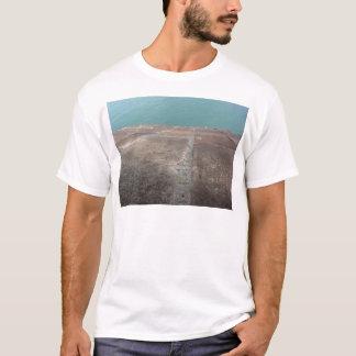 Camiseta Deslizamento no mar azul