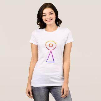 Camiseta Deslocamento de Saturn do arco-íris do Tshirt do