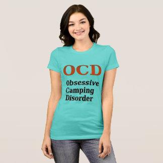 Camiseta Desordem de acampamento obsessiva de OCD