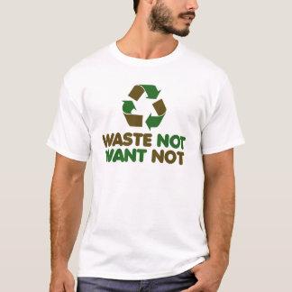 Camiseta Desperdício para não querer não