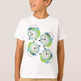 Camiseta Despertadores subtis do tock do tiquetaque