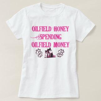 Camiseta Despesa do mel do campo petrolífero