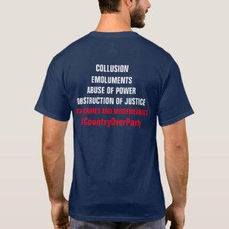 Camiseta Destituição da obstrução dos lucros do conluio