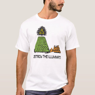 Camiseta Destrua o Illuminati - t-shirt da escavadora