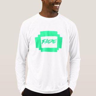 Camiseta Desvanece-se o T longo da luva do retângulo verde
