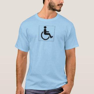 Camiseta desvantagem acessível
