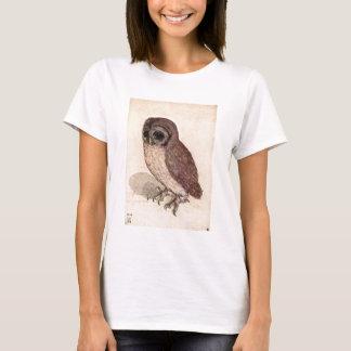 Camiseta Detalhado bonito triste da coruja pequena