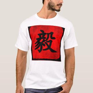 Camiseta Determinação na caligrafia do chinês tradicional