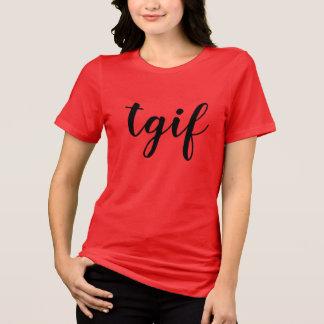 Camiseta deus do obrigado do tgif é chique do design da