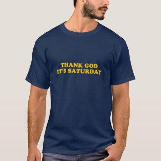 Camiseta Deus do obrigado é t-shirt de sábado TGIF