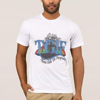 Camiseta Deus do obrigado eu sou perdoado TGIF