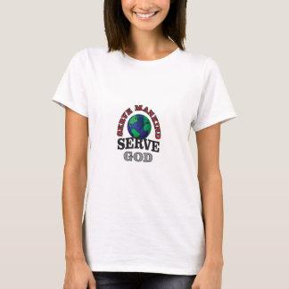 Camiseta deus e humanidade do saque do globo