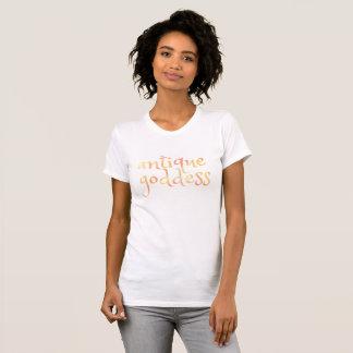 Camiseta DEUSA ANTIGA inglesa na aguarela