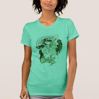 Camiseta Deusa verde do vintage