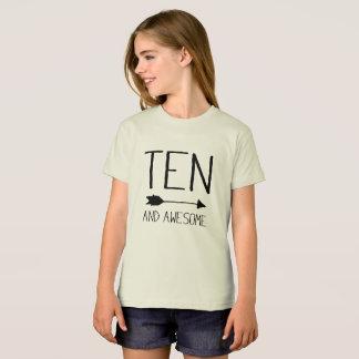 Camiseta Dez e 10o presente de aniversário impressionante