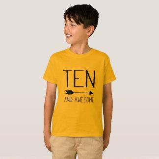 Camiseta Dez e 10o t-shirt impressionante do presente de