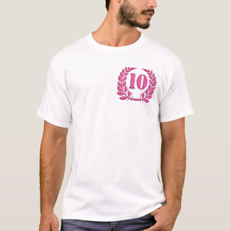 Camiseta dez louros - jubileu, imitação do bordado