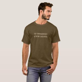 Camiseta Dez mandamentos de filhas do namorando