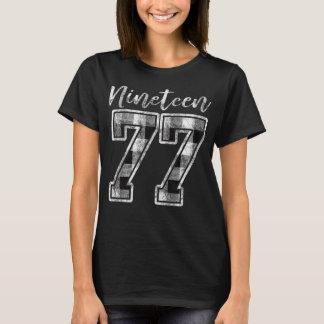 Camiseta Dezenove 77 aniversário de 40 anos da xadrez 1977