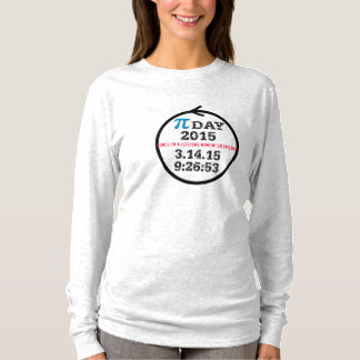 Camiseta Dia 2015 do Pi (mulheres cinzentas do tshirt M)