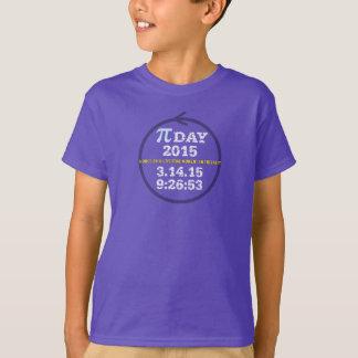 Camiseta Dia 2015 do Pi: Um momento da uma vez