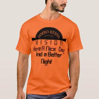 Camiseta Dia agradável de Kenya da visão alaranjada básica