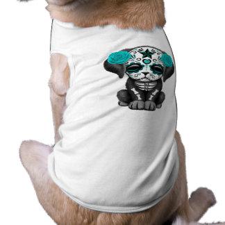 Camiseta Dia azul do cão de filhote de cachorro inoperante