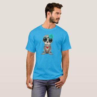Camiseta Dia azul do leão de mar inoperante do bebê