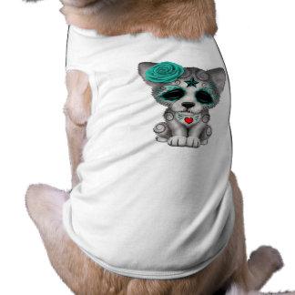 Camiseta Dia azul do lobo Cub inoperante