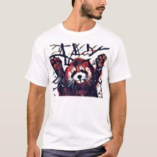 Camiseta Dia bonito da neve da panda vermelha