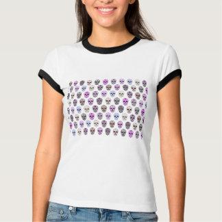 Camiseta Dia colorido do teste padrão inoperante do crânio