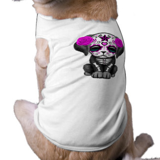 Camiseta Dia cor-de-rosa do cão de filhote de cachorro