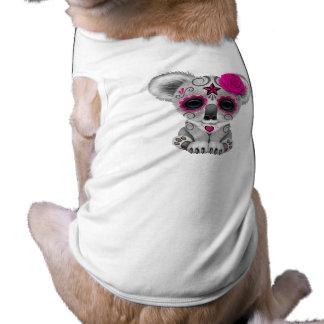 Camiseta Dia cor-de-rosa do Koala inoperante do bebê
