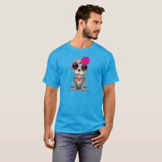 Camiseta Dia cor-de-rosa do leão de mar inoperante do bebê