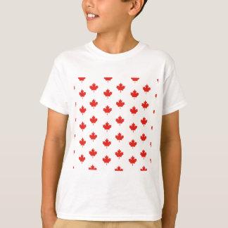 Camiseta Dia da nação do país do emblema de Canadá da folha