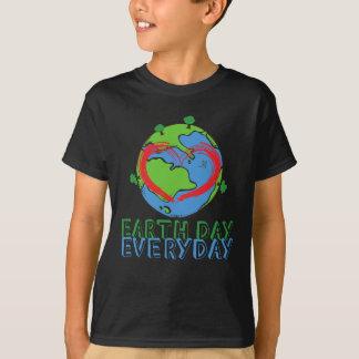 Camiseta Dia da Terra: Mantenha o verde & o reciclado da