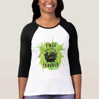 Camiseta Dia das Bruxas engraçado da labuta e do problema