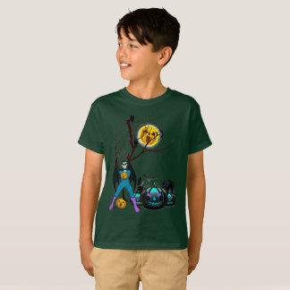 Camiseta Dia das Bruxas-tempo