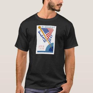 Camiseta Dia de bandeira de WPA do vintage