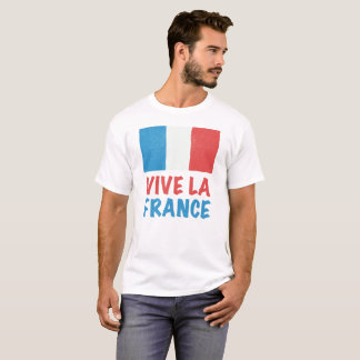 Camiseta Dia de Bastille francês da bandeira de France do