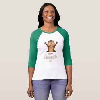Camiseta Dia de GroundHog feliz